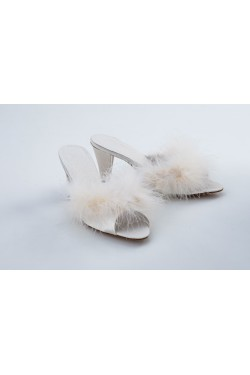 Satin slipper feathers Cybelle