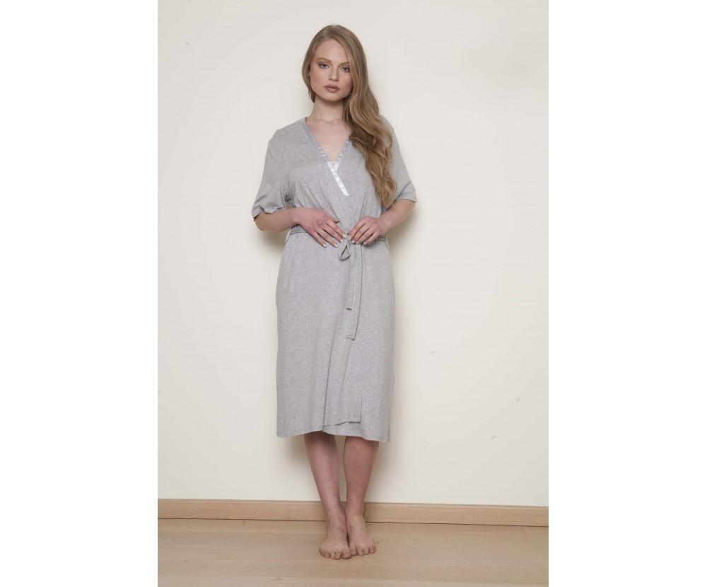 Midi cotton robe