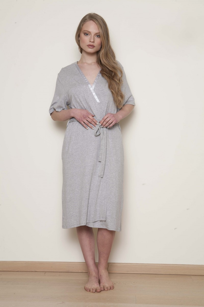Midi cotton robe