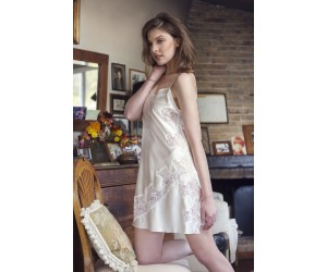 Mini satin night-gown Ileanna