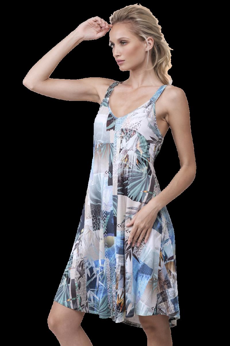 Midi printed dress Sarah