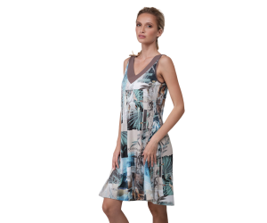 Midi printed dress Lisa