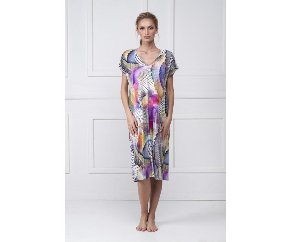 Midi printed dress Ismene
