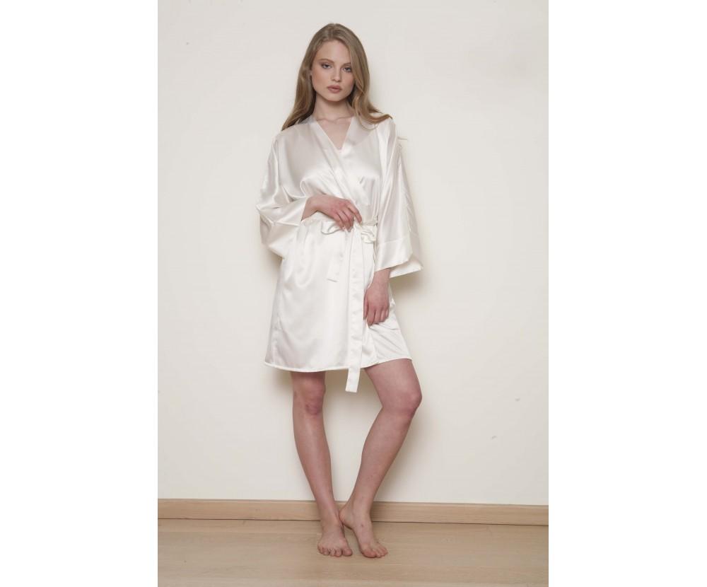 Robe satin Kimono