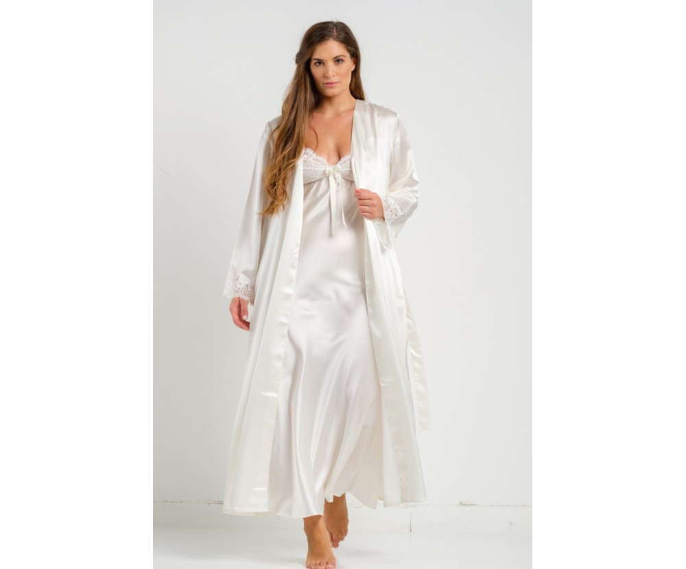 Set maxi robe and nightgown
