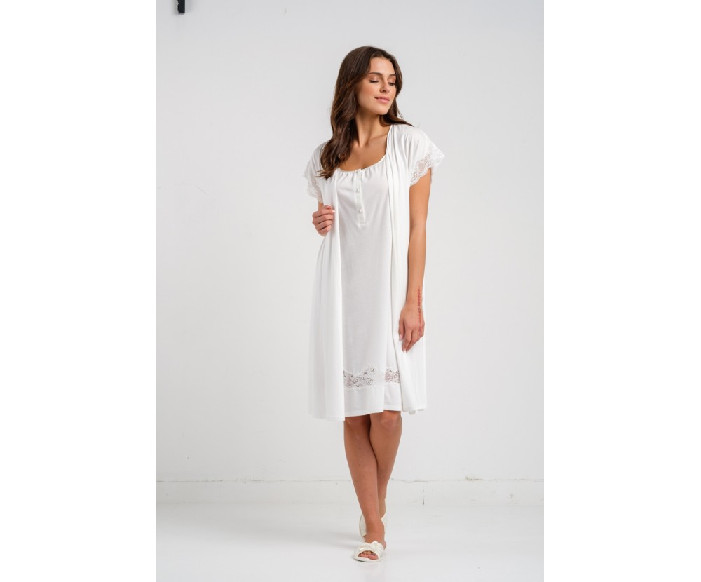 Set mini night-gown Nala with robe Ninon