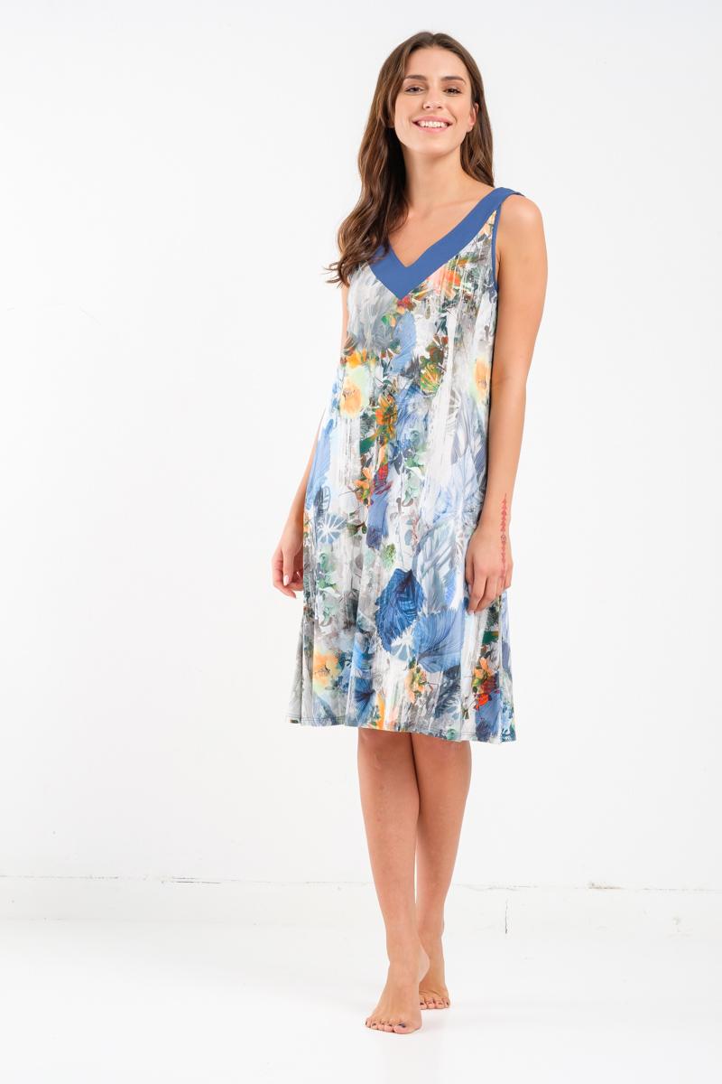 Midi printed dress Lisa