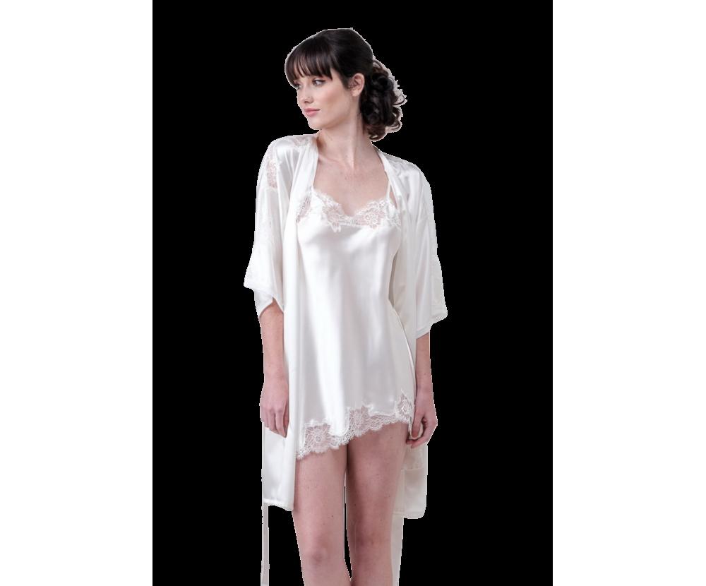 Mini set robe and nightgown