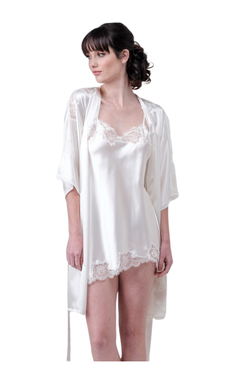 Mini set robe and nightgown