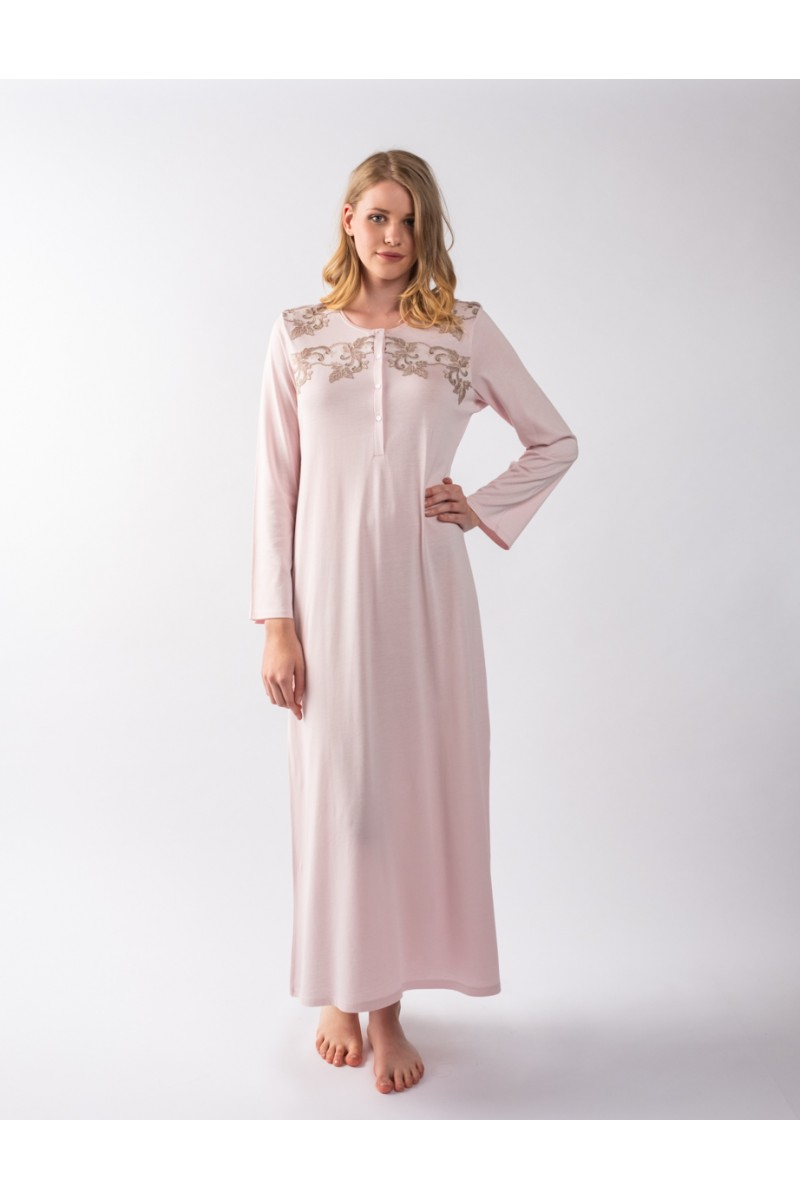 Maxi night-gown cotton modal