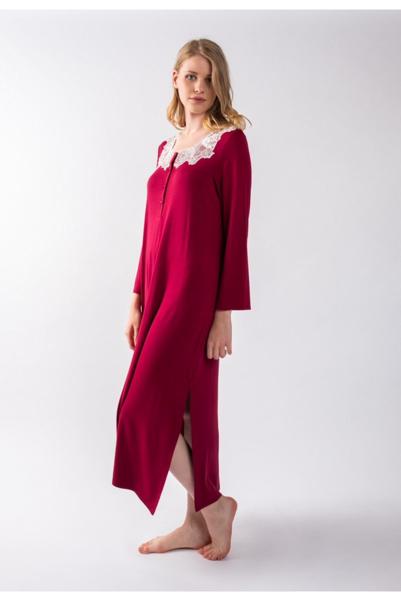 Maxi night-gown cotton modal Antonella