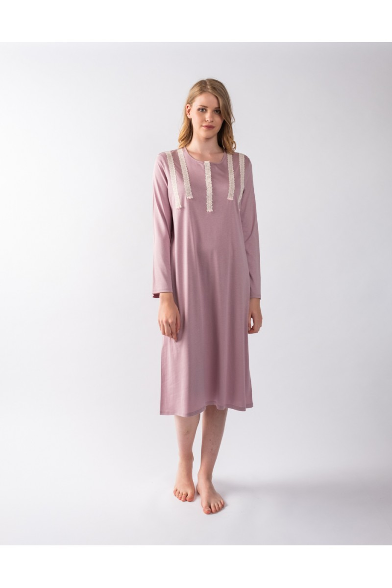 Midi nightgown cotton modal Antonella