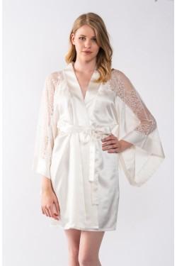 Mini robe satin Kimono B