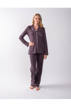 Cotton Prnted Pyjamas Seniora with buttons