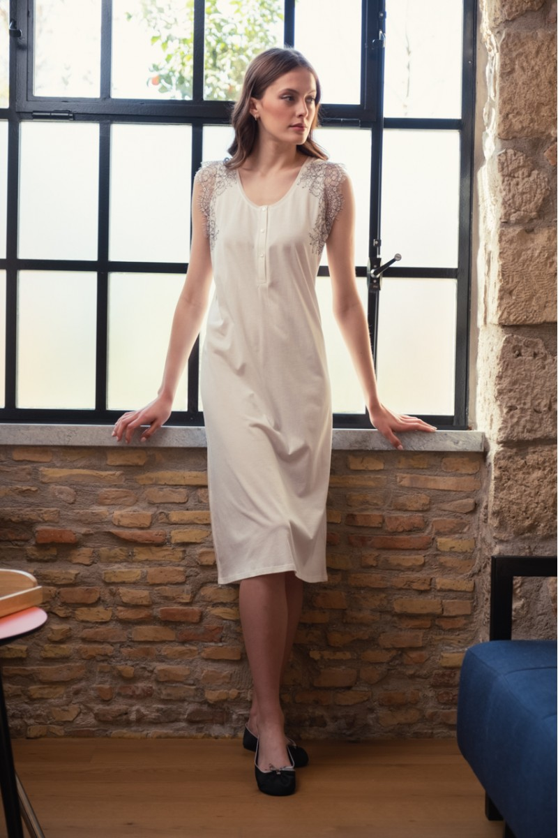 Midi nightgown cotton modal Elise