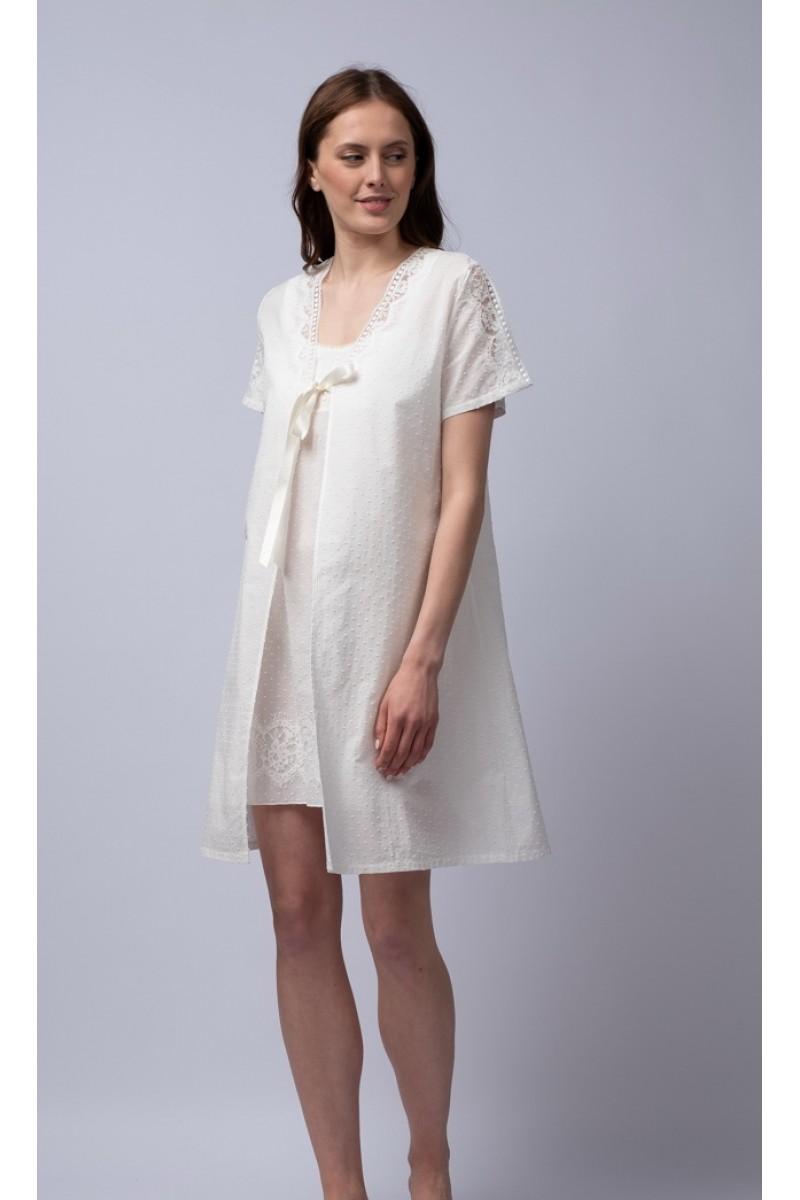 Mini robe popeline pois Hera