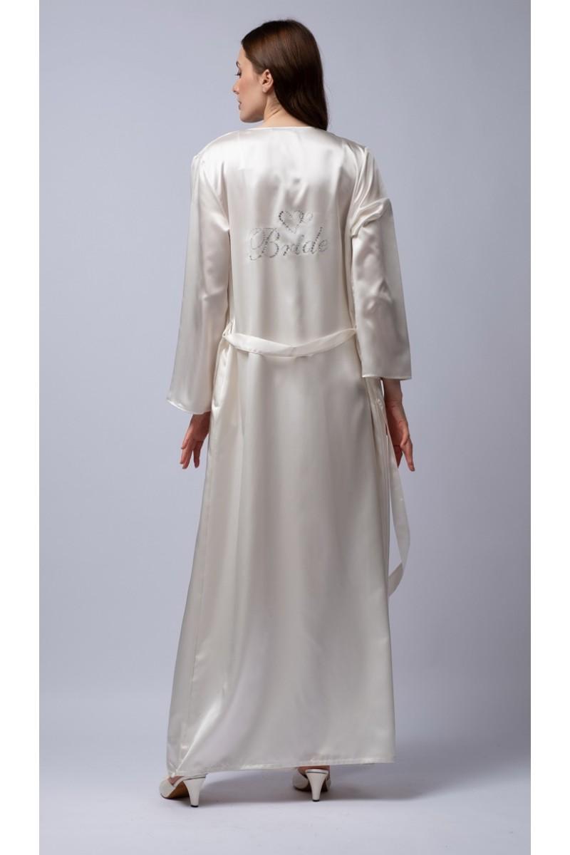 Weddind maxi robe satin Bride