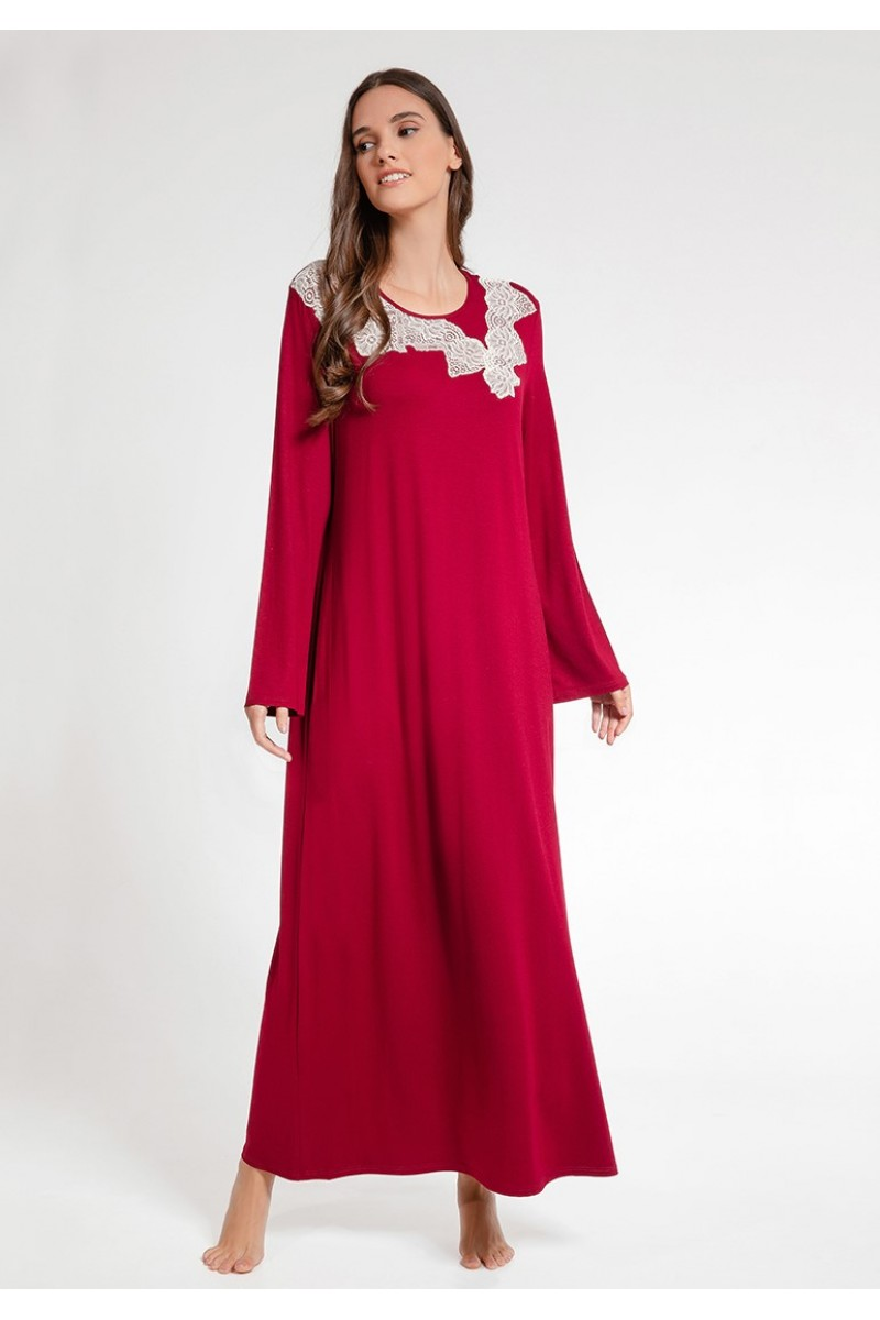 Maxi night-gown viscose elastan Antonella
