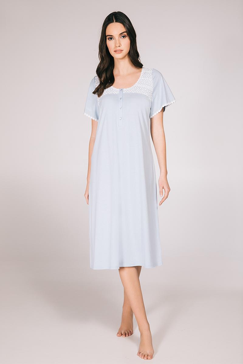 Midi night-gown cotton modal Elise