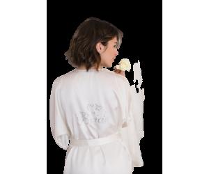 Robe satin kimono Bride