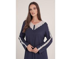Midi night-gown viscose elastan Antonella