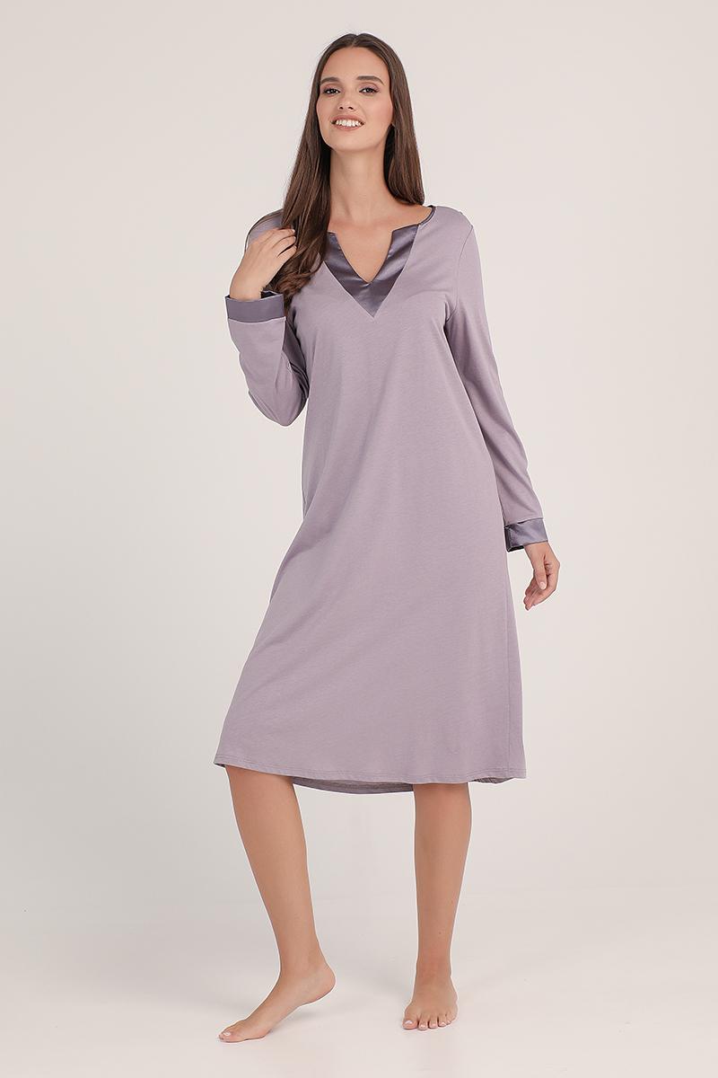 Midi night-gown cotton modal Carol