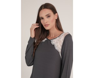Midi night-gown viscose elastan Loretta